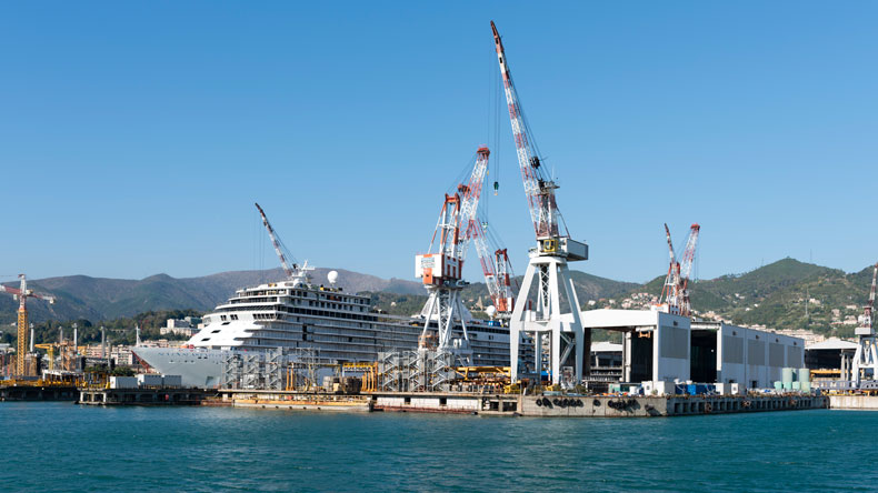 Fincantieri yard at Genoa