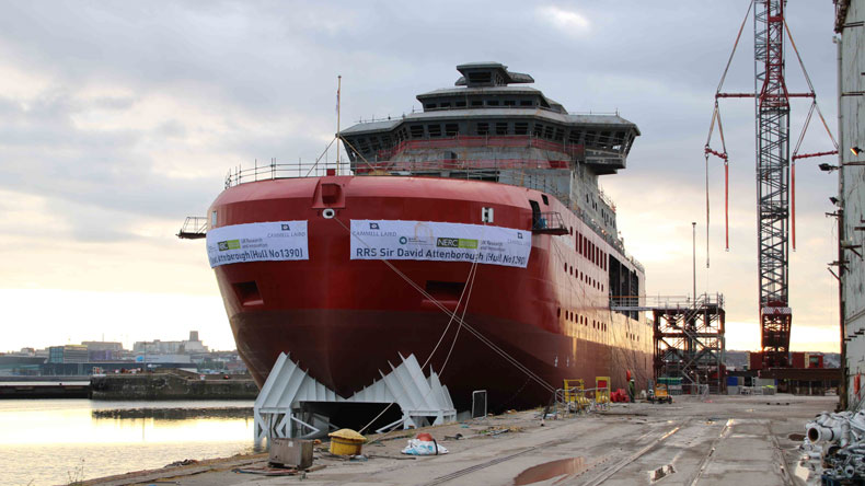 RRS Sir David Attenborough at Birkenhead