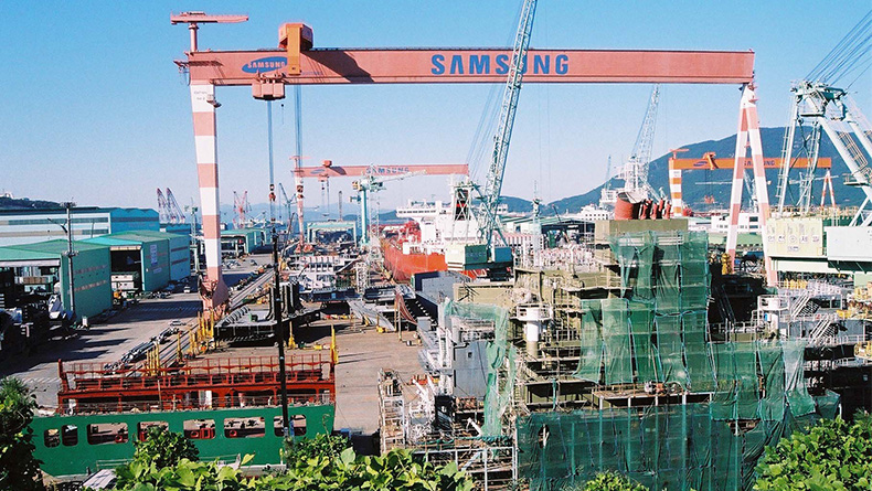 Samsung Heavy Industries' Koje yard