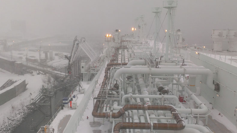GDF Suez Neptune discharges LNG at Everett terminal Boston