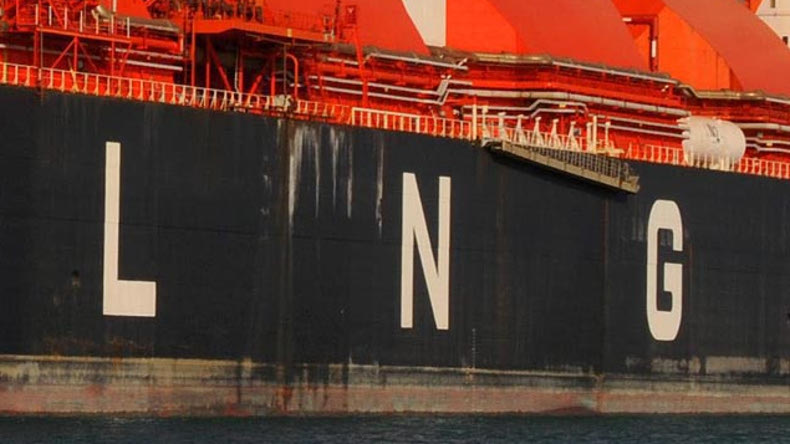 LNG on vessel