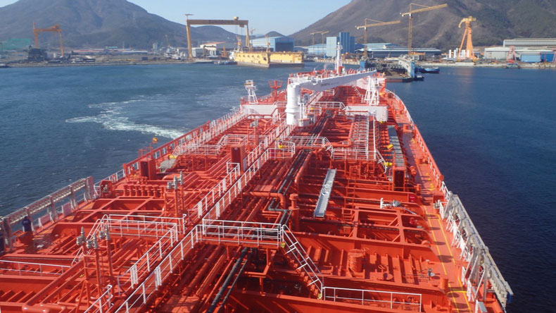 Product tanker deck