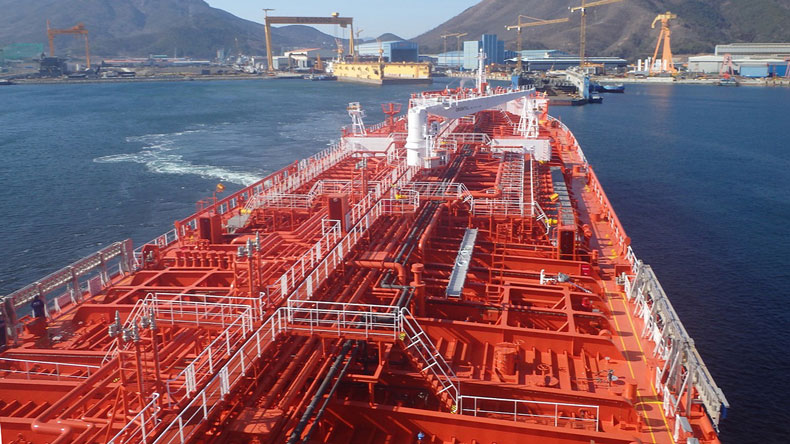 Product tanker deck view