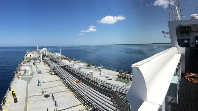 View over VLCC deck