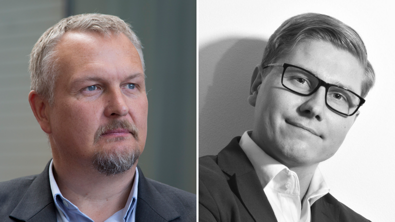 Eero Lehtovaara and Antto Shemeikka, respectively the head of regulatory affairs and VP digital services at ABB Marine & Ports in Finland