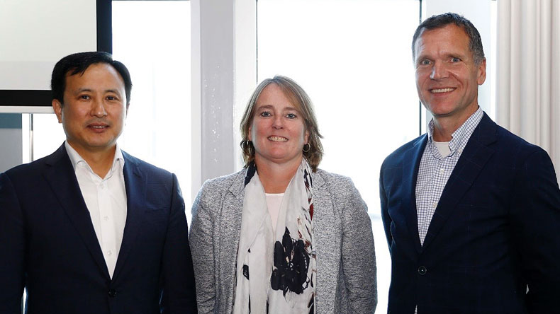 Samsung's Sanghun Lee, ABN Amro's Daphne de Kluis and Port of Rotterdam Authority's Paul Smits