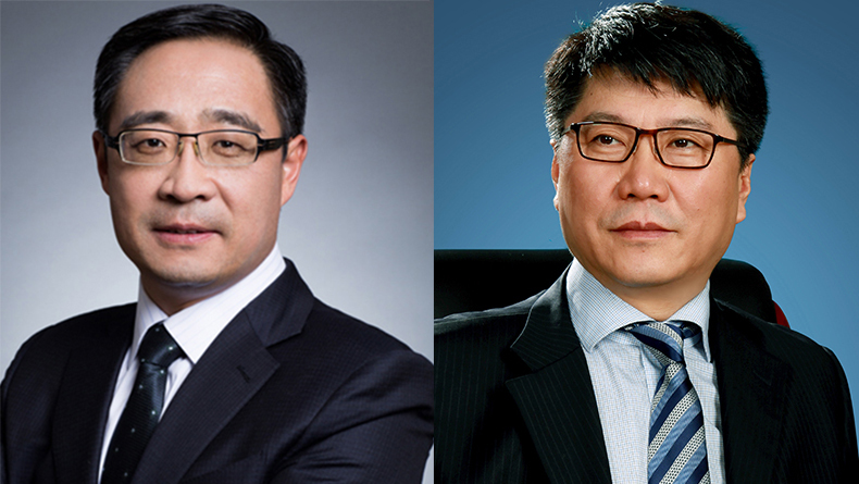 Zhao Guicai, chief executive, ICBC Financial Leasing (left) and Zhao Jiong, chairman, Bocomm Leasing
