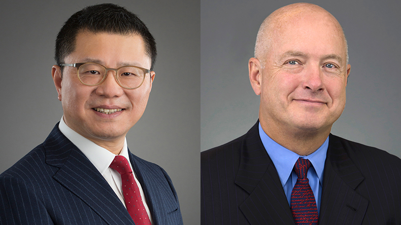 Bing Chen (left), president and chief executive and David Sokol, chairman, Seaspan