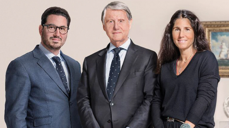From left: Diego Aponte, group president; Gianluigi Aponte, founder and chairman; and Alexa Aponte-Vago, group chief financial officer, MSC Mediterranean Shipping Company