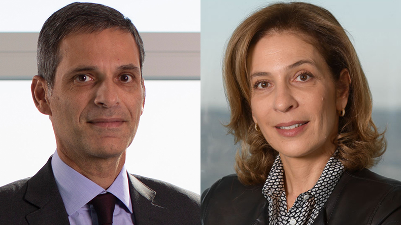 Rodolphe Saadé, left, chairman and chief executive of CMA CGM and his sister Tanya Saadé Zeenny, board member, CMA CGM