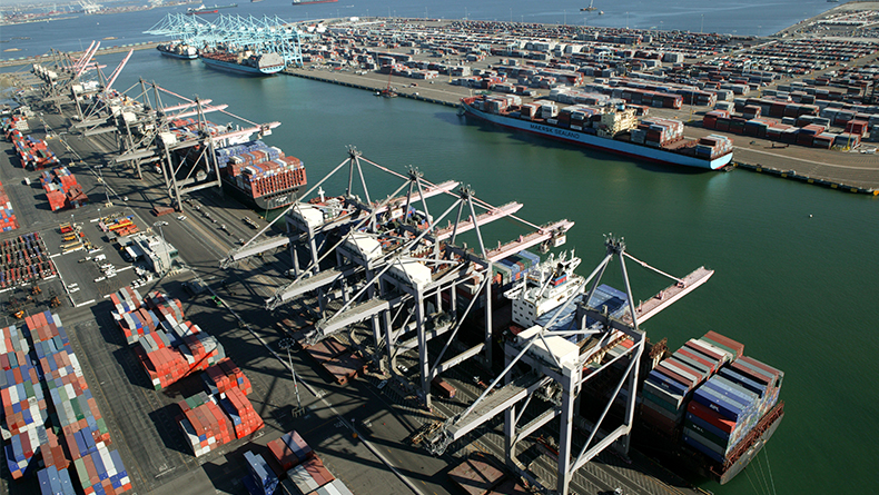 Los Angeles Pier 300-400 and container terminals
