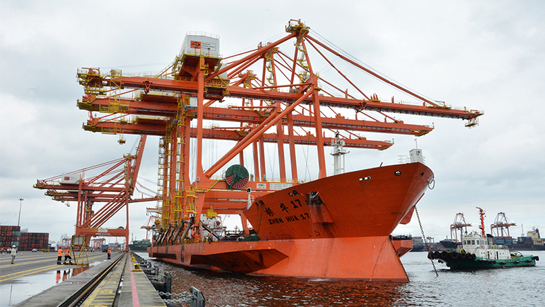 Manila, Philippines, took delivery of three new cranes in 2018